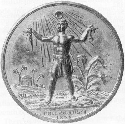 Medal commemorating the Emancipation in 1834