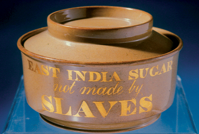 bowl inscribed East India Sugar not made by Slaves
