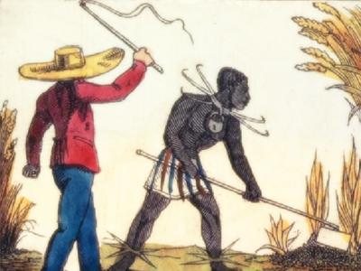 Punished slaves