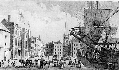 A view of Liverpool Customs House, 1750